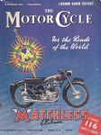 The Motor Cycle Magazine London Show Report 18th Nov 1954